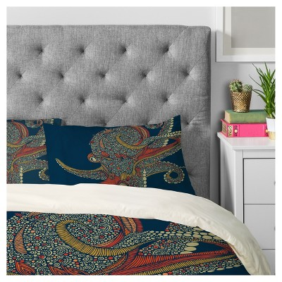 Blue Valentina Ramos Octopus Duvet Cover Set (Queen)   Deny Designs®