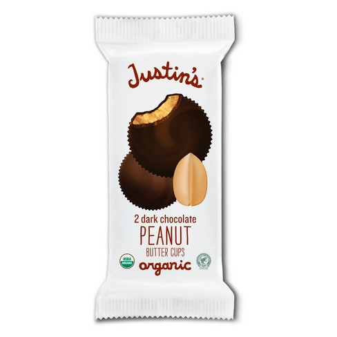 Justin's Organic Dark Chocolate Peanut Butter Cups - 1.4oz - image 1 of 4