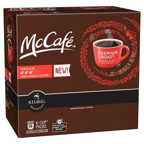 McCafe Premium Roast Medium Roast Coffee - Keurig K-Cup Pods - 18ct ...