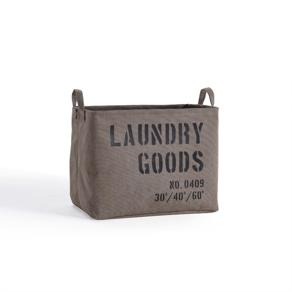 Image of Danya B. Army Canvas Laundry Basket Sadle Brown