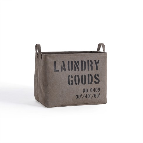 Danya B. Army Canvas Laundry Basket Sadle Brown - image 1 of 4