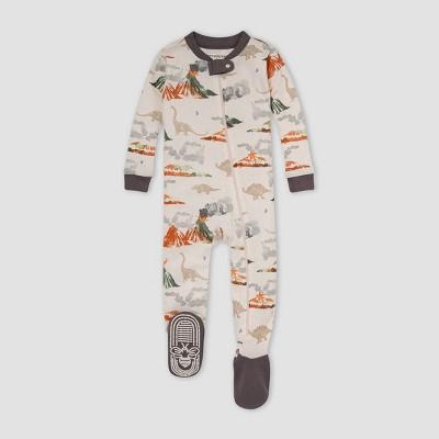 Burt's Bees Baby® Baby Boys' Volcano Snug Fit Footed Pajama - Gray 3-6M