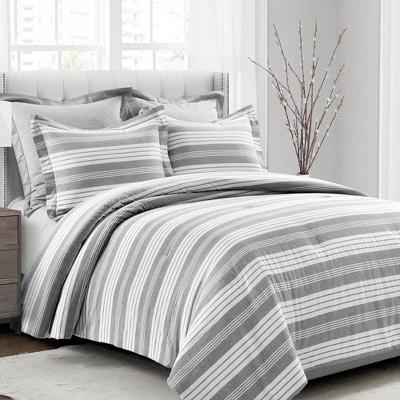 Farmhouse Yarn Dyed Stripe Comforter Set - Lush Décor
