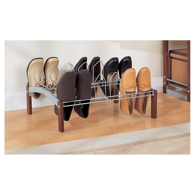 Neu Home 9-Pair Shoe Rack - Dark Brown