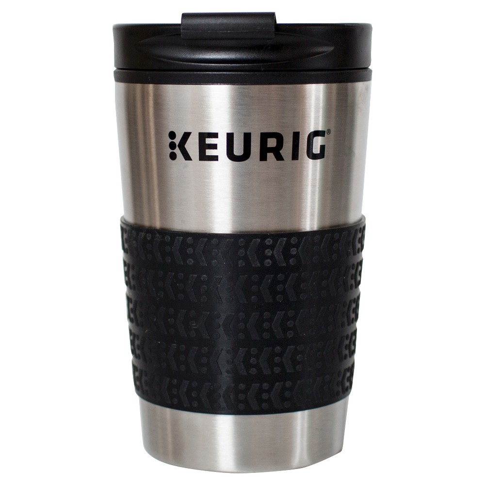 Image of Keurig 12oz Stainless Steel Mini Travel Mug, Silver Black