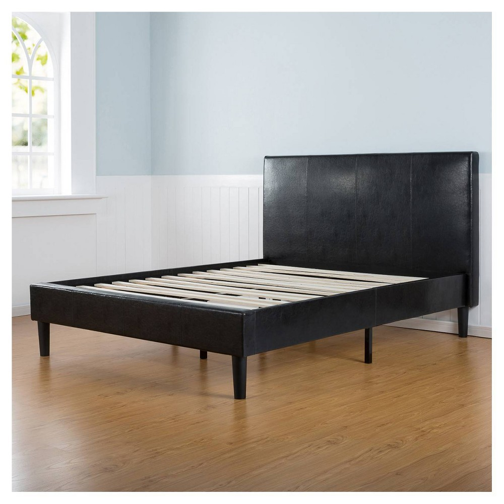 Image of Sleep Revolution Platform Bed Faux Leather Dark Brown King size