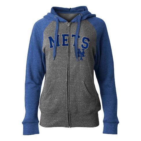 timeless design 2a003 57b53 MLB New York Mets Women's On Deck Full Zip Hoodie
