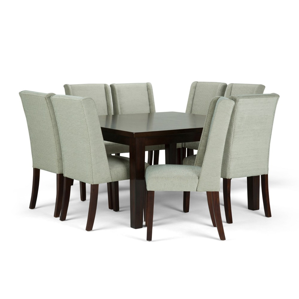 Sedona Solid Hardwood 9pc Dining Set Seamist - Wyndenhall