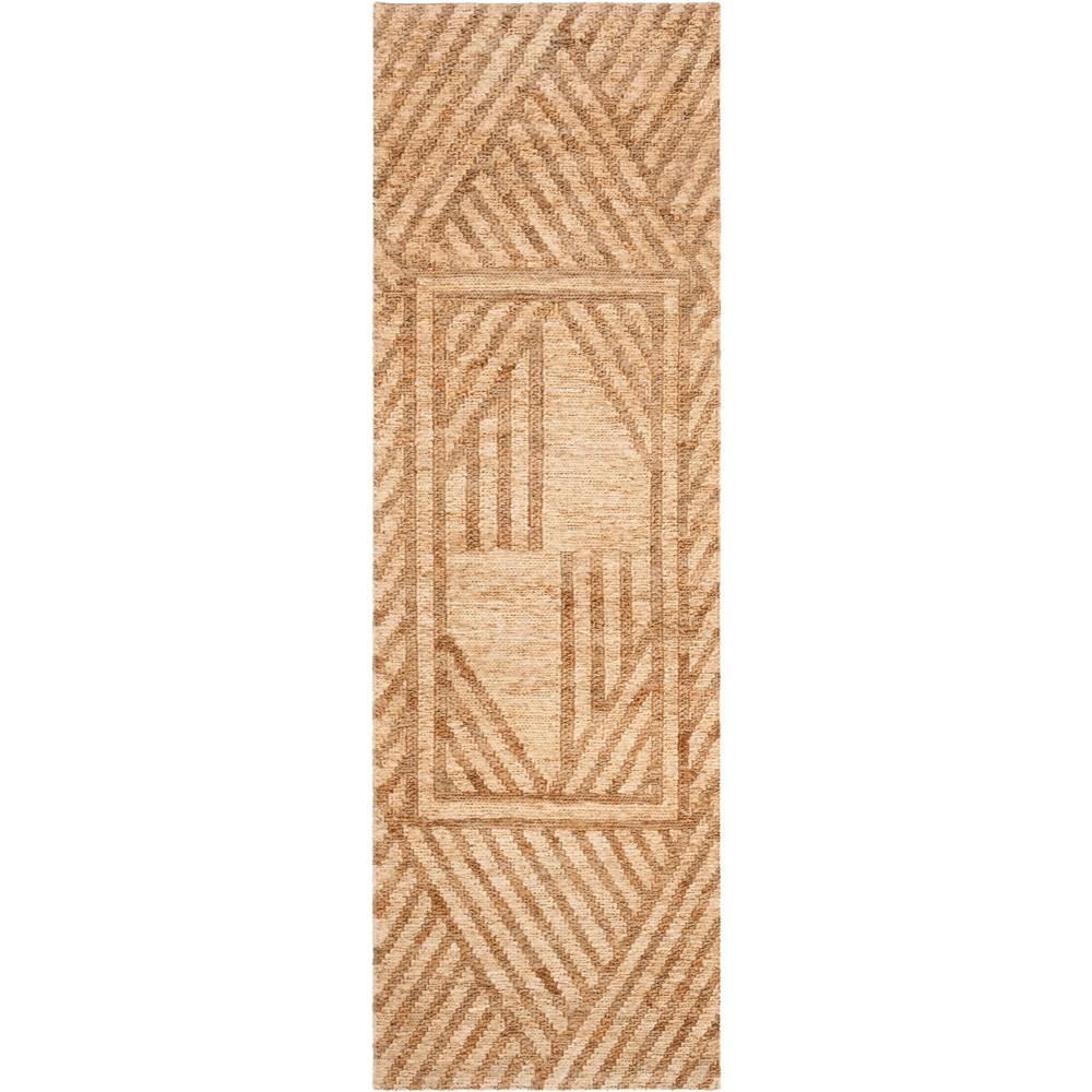 2'6X8' Geometric Woven Runner Natural/Ivory - Safavieh, White