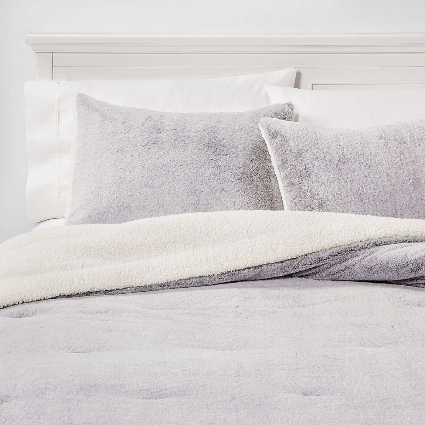 Aspen Faux Fur Comforter & Sham Set - image 1 of 3