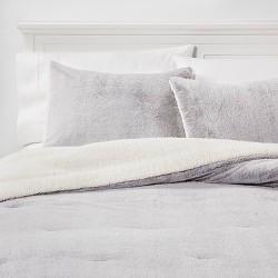 Aspen Faux Fur Comforter & Sham Set