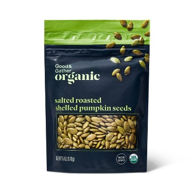 Organic Salted Roasted Shelled Pumpkin Seeds - 6oz - Good & Gather™