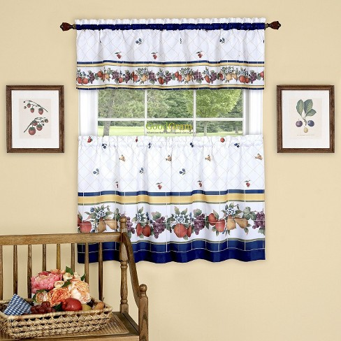 GoodGram Fruity Tiles Tier & Valance Kitchen Curtain Set by GoodGram - image 1 of 1