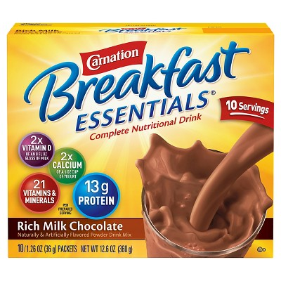 Powdered Drink Mixes: Carnation Breakfast Essentials