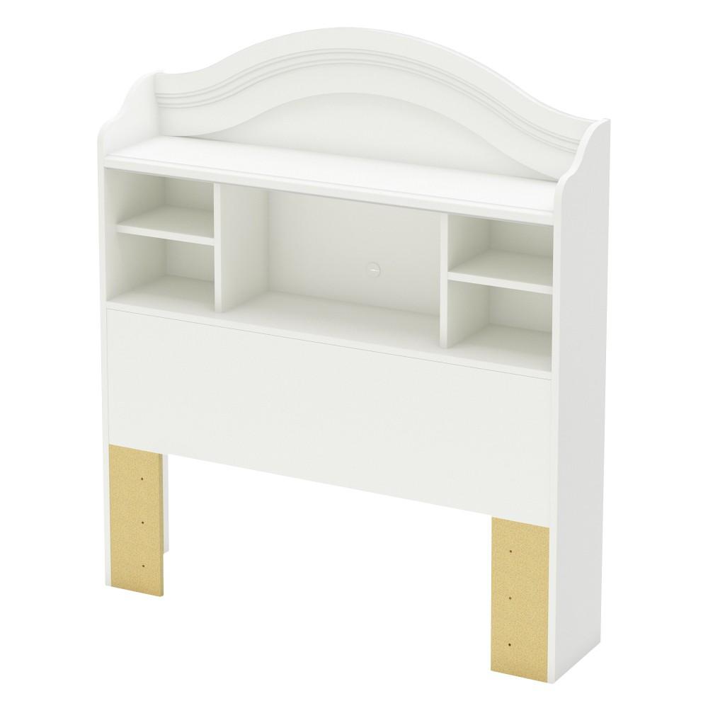 South Shore Savannah Bookcase Kids Headboard - White (Twin)