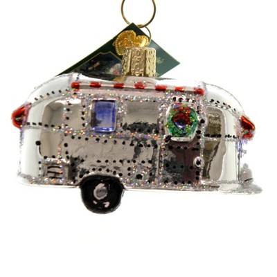 """Old World Christmas 2.5"""" Vintage Trailer Travel Home Vacation  -  Tree Ornaments"""