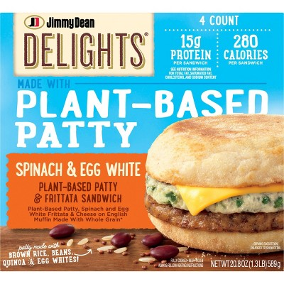 Jimmy Dean Delights Frozen Plant Based Sausage Patty - 4ct