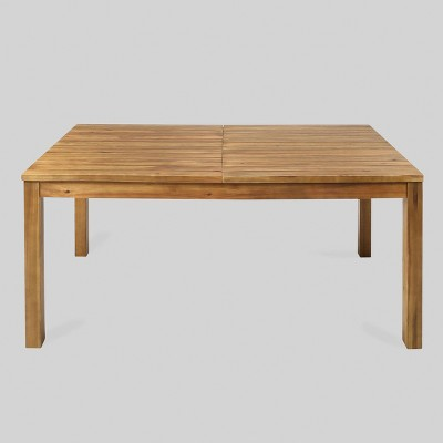 Wilson Rectangle Acacia Wood Expandable Dining Table Teak - Christopher Knight Home