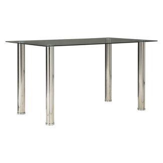 Sariden Rectangular Dining Room Table Clear/Chrome - Signature Design by Ashley