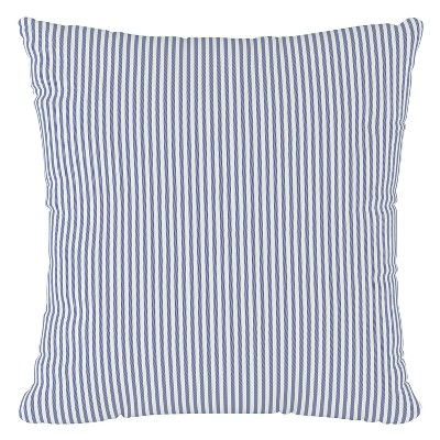 Navy Stripe Throw Pillow - Cloth & Co