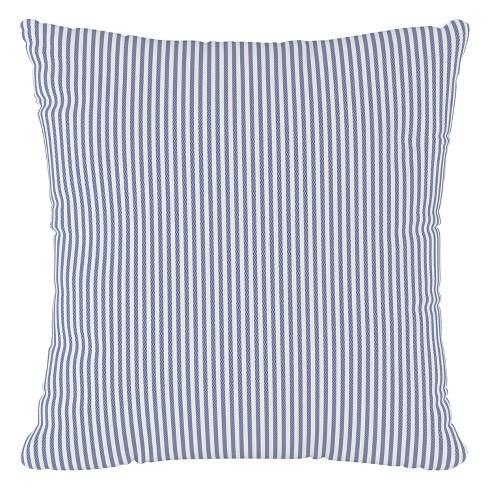 Navy Stripe Throw Pillow Cloth Co