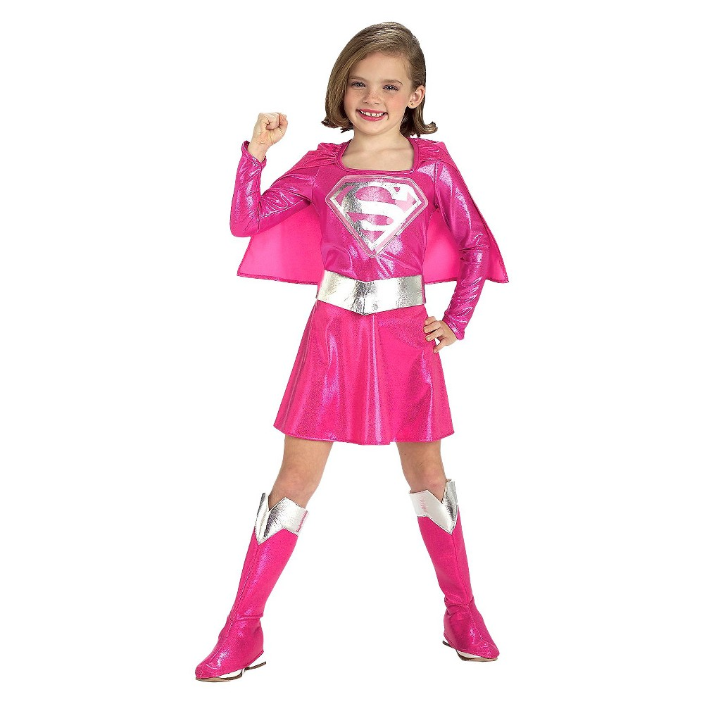 Supergirl Girls' Costume - 2T-4T, Pink