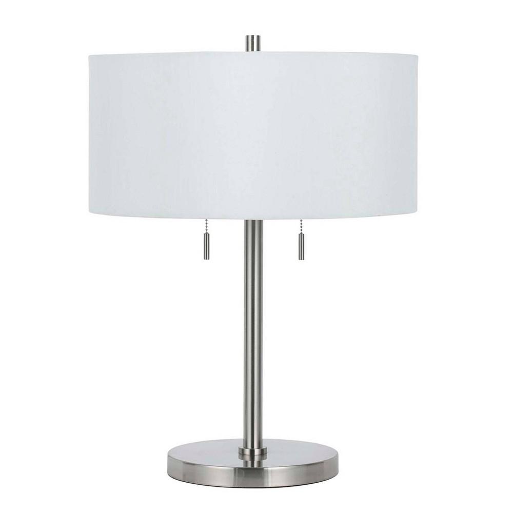 23 5 34 Metal Calais Table Lamp Brushed Steel Cal Lighting