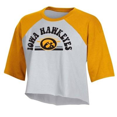 NCAA Iowa Hawkeyes Women's Short Sleeve Cropped T-Shirt