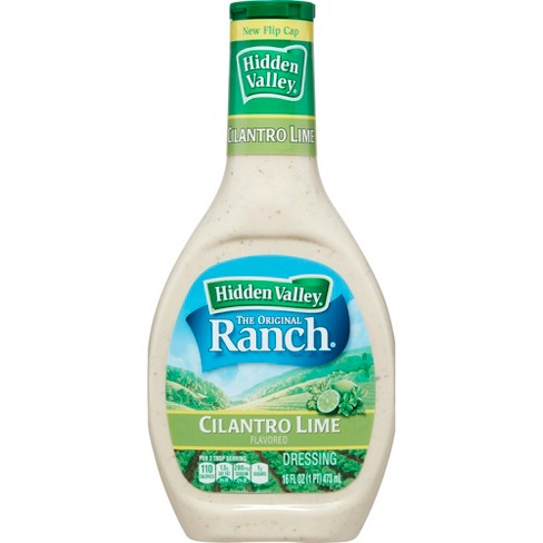 Hidden Valley Cilantro Lime Ranch Salad Dressing & Topping - Gluten Free - 16oz Bottle - image 1 of 4