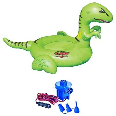 Swimline 90624 Pool Kids Giant Dinosaur Inflatable Float Toy w/ 12 Volt Air Pump