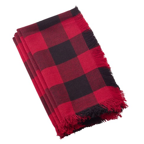 Red Plaid Table Runner - Saro Lifestyle - image 1 of 2
