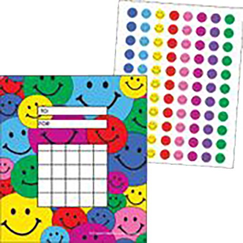 Teacher Created Resources Colorful Incentive Charts with Mini Stickers, Happy Faces, 5-1/4 x 6 inches - image 1 of 1