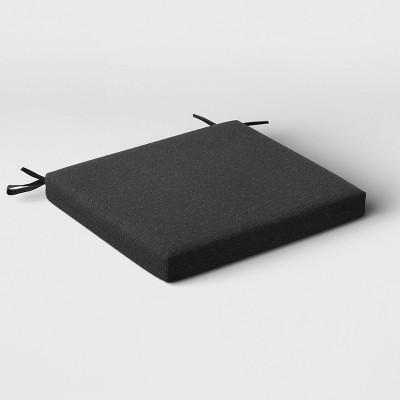 Outdoor Seat Cushion DuraSeason Fabric™ Charcoal - Threshold™
