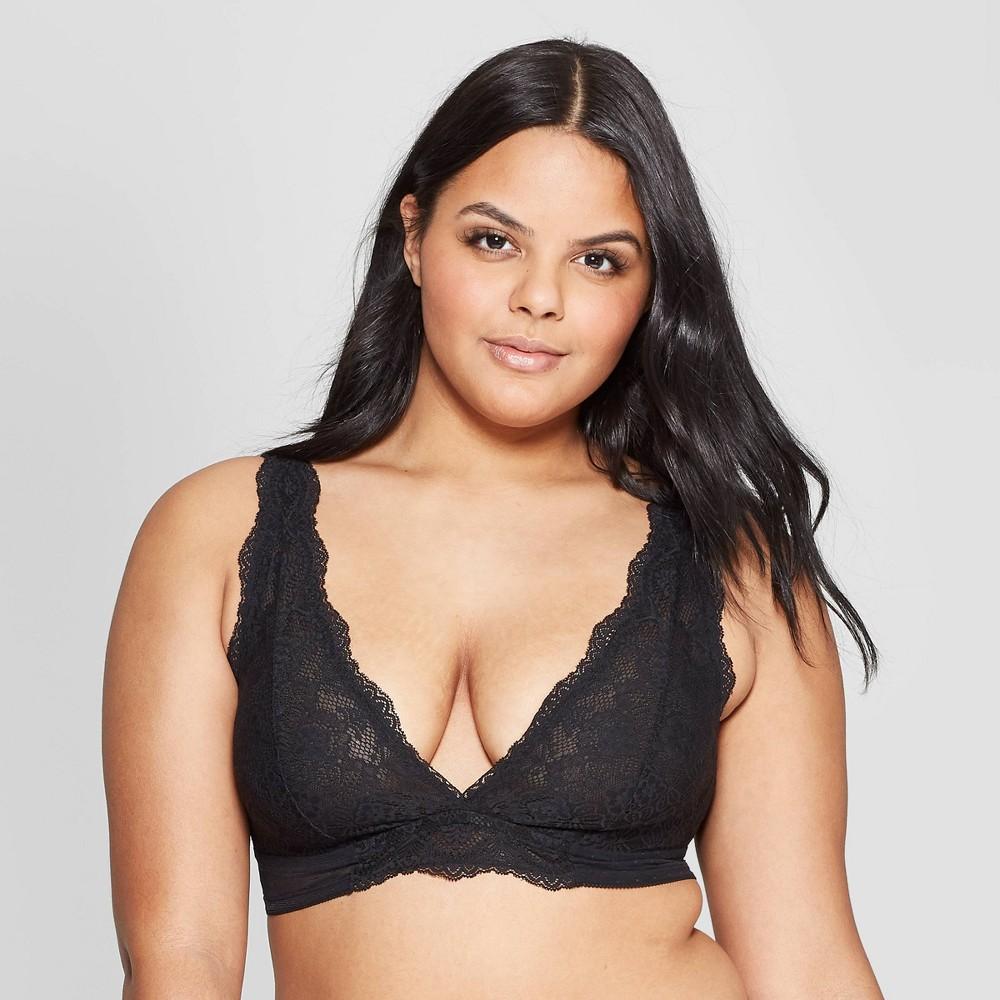 Women's Unlined High Apex Bralette - Auden Black XL