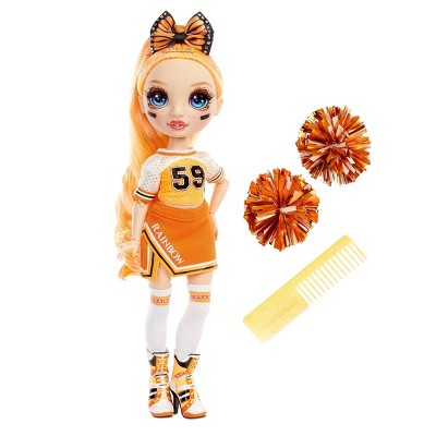 Rainbow HighCheer Poppy Rowan - OrangeFashion Dollwith Cheerleader Outfit andDoll Accessories
