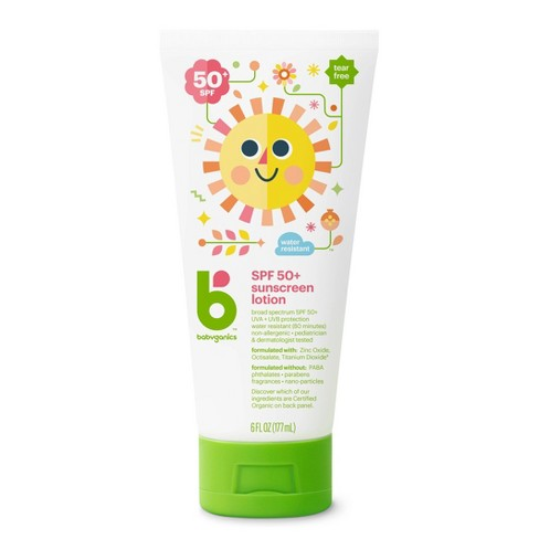 Babyganics Mineral-Based Baby Sunscreen Lotion, SPF 50 - 6 fl oz - image 1 of 4