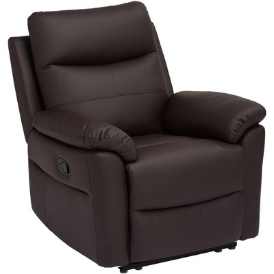 Elm Lane Newport Brown Faux Leather Manual Recliner Chair