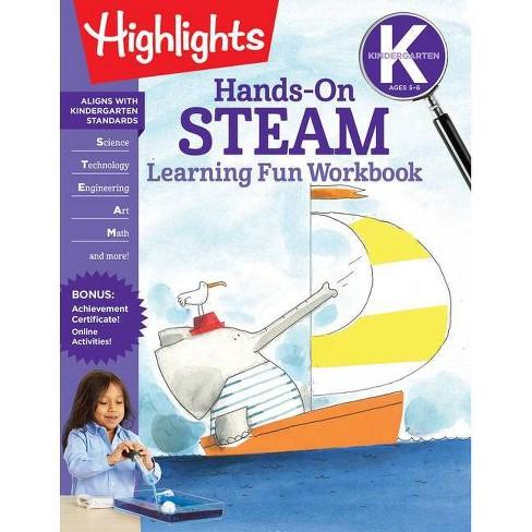 Kindergarten Hands-On Steam Learning Fun Workbook - (Highlights Learning Fun Workbooks) (Paperback) - image 1 of 1