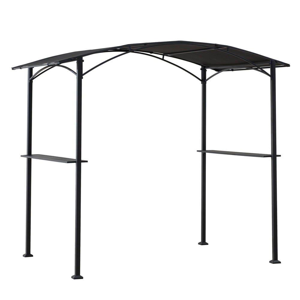 Image of Bella Vista 8' X 15' Outdoor Steel Grill Pergola With Fire-Resistant Canopy - Sunjoy