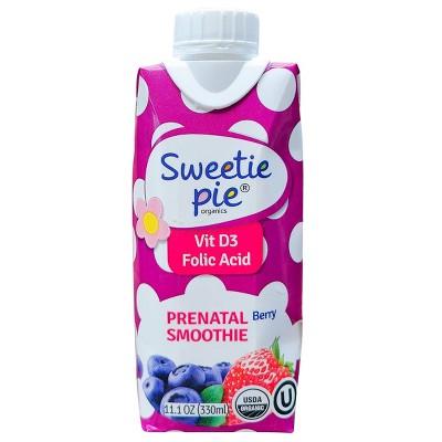 Sweetie Pie Organics Prenatal Smoothie - Berry - 11.1oz/4pk