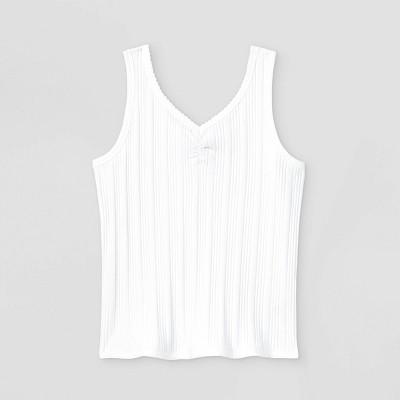 Girls' Rib-Knit Cinch Front Tank Top - art class™