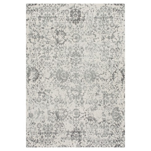 Floral Damask Rosemary Gray Rug - nuLOOM - image 1 of 4