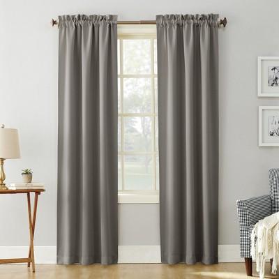 Kenneth Blackout Rod Pocket Curtain Panel Gray 40 x84  - Sun Zero