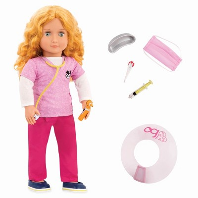 """Our Generation 18"""" Pet Care Vet Doll with Accessories - Anais"""