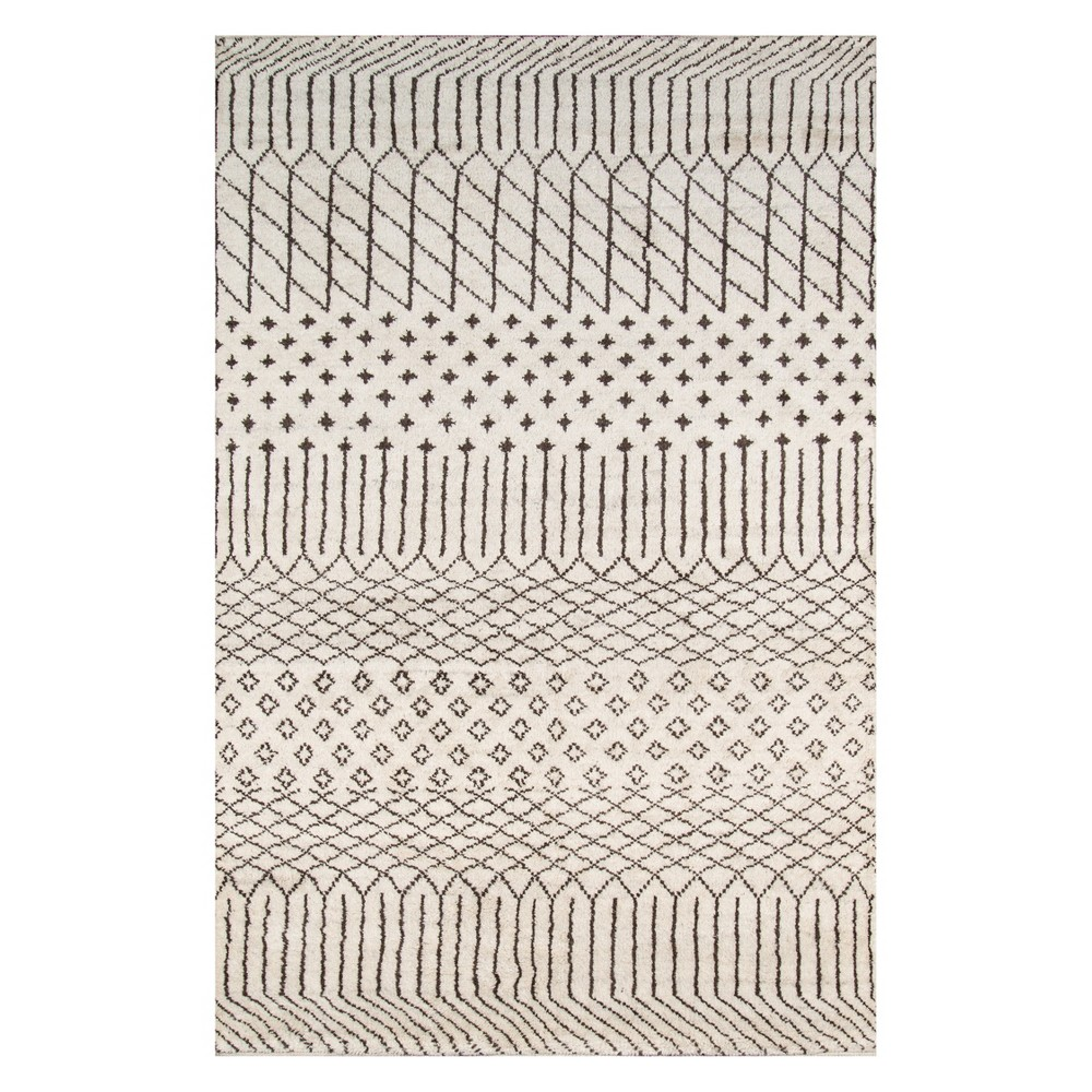 3 6 X5 6 Geometric Knotted Accent Rug Natural Momeni