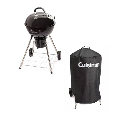 "Cuisinart CGB-046 18"" Kettle Charcoal Grill Bundle with Grill Cover"