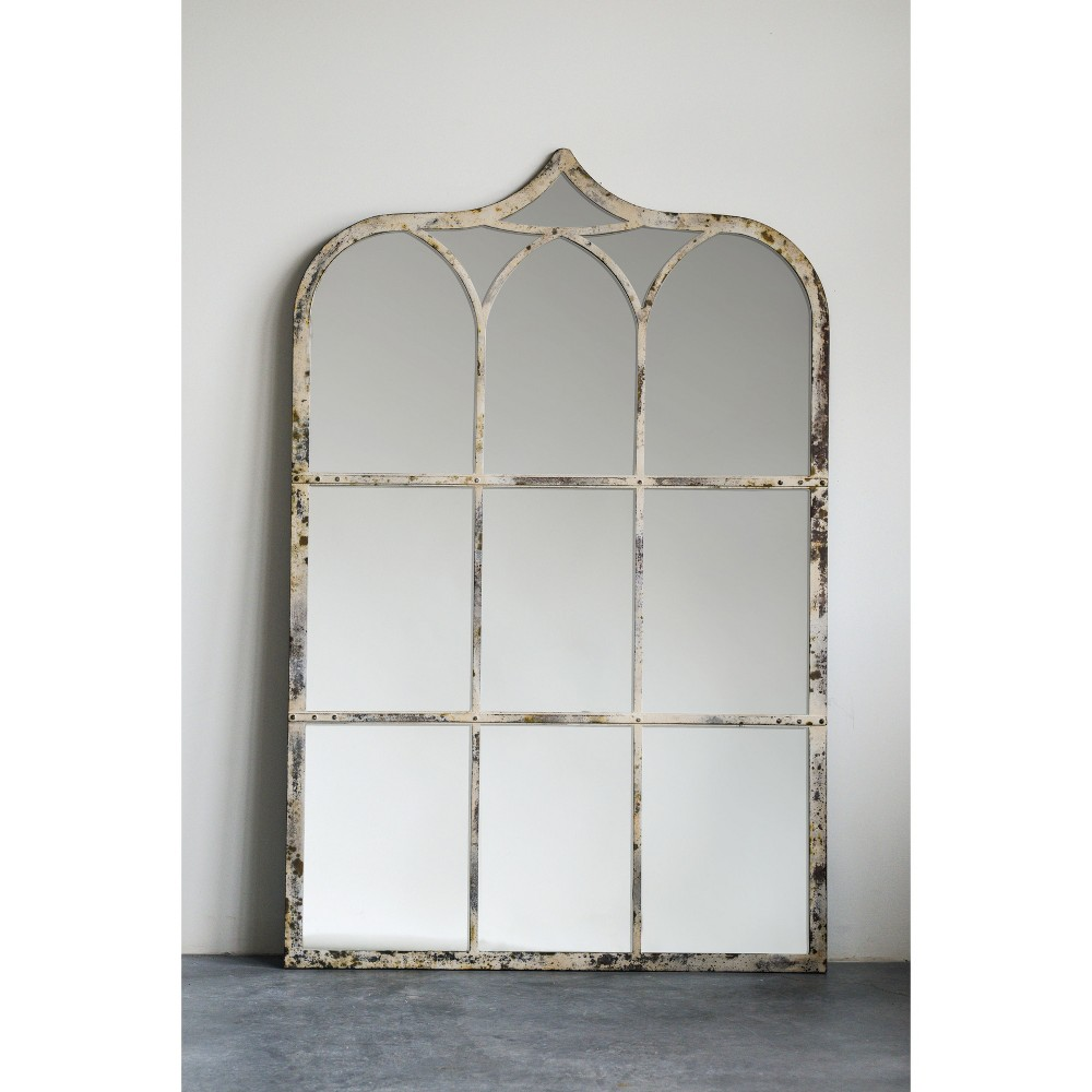 Image of Decorative Wall Mirror Rustic - 3R Studios, White