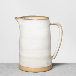 Stoneware Pitcher Gray - Hearth & Hand™ with Magnolia