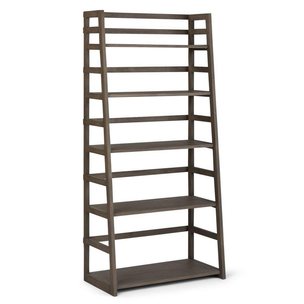 Normandy Ladder Shelf Bookcase Gray - Wyndenhall
