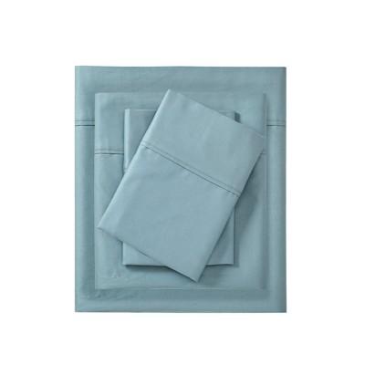 600 Thread Count Pima Cotton 4pc Sheet Set - Blue
